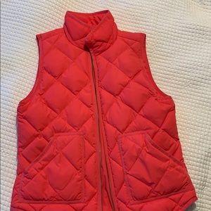 Bright pink J Crew Factory Vest